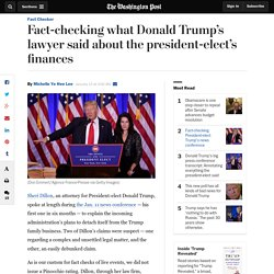 Fact-checking what Donald Trump's lawyer said about the president-elect's finances