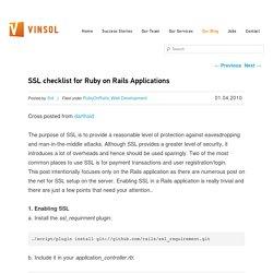 SSL checklist for Ruby on Rails Applications