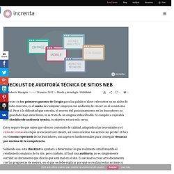 Checklist de auditoría técnica de sites