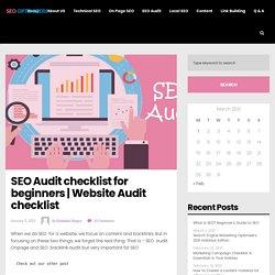 SEO Audit checklist for beginners