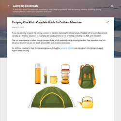 Camping Checklist - Complete Guide for Outdoor Adventure