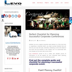 Checklist for Planning Corporate Events