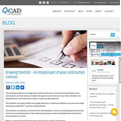 Drawing Checklist - An integral part of your construction contract