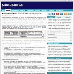 Bisnez: Checklist voor succesvol managen van projecten · Consultancy.nl