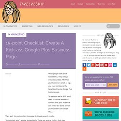 15-Point Checklist: Create A Kick-Ass Google Plus Business Page