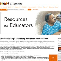 Checklist: 8 Steps to Creating a Diverse Book Collection