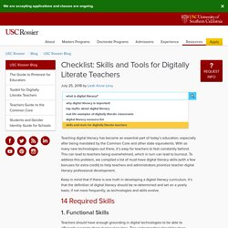 Checklist: Skills and Tools for Digitally-Literate Teachers - Blog