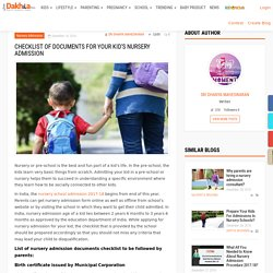 Checklist of documents for your kid's nursery admission – Just dakhila