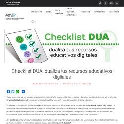 Checklist DUA: dualiza tus recursos educativos digitales