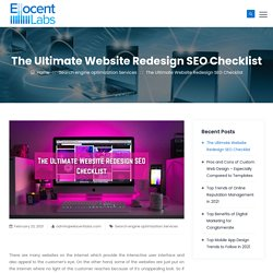 The Ultimate Website Redesign SEO Checklist