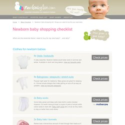 New Baby Checklist - Essential newborn shopping list