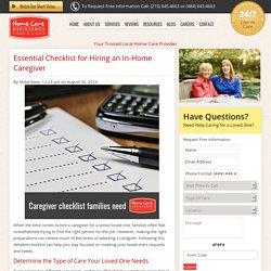 Checklist All Families Need When Hiring a Caregiver