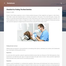 Checklist For Finding The Best Dentists