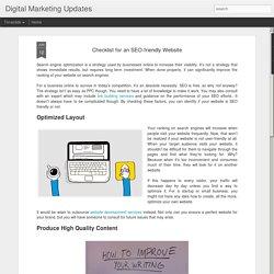Digital Marketing Updates: Checklist for an SEO-friendly Website