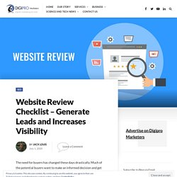 Website Review Checklist - Generate Leads and Increases Visibility