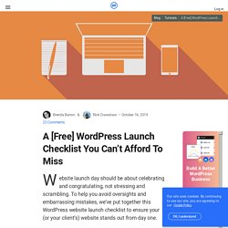 15 Point Checklist: WordPress Start-Up Guide After Installation