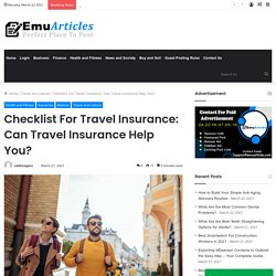Checklist for Travel health insurance for visitors in the USA