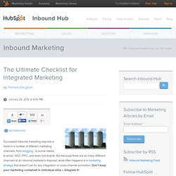 The Ultimate Checklist for Integrated Marketing
