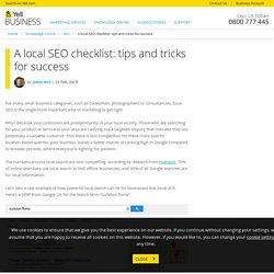 A local SEO checklist: tips and tricks for success - Knowledge