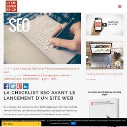 La checklist SEO avant le lancement d'un site web - Les DIGIVORES