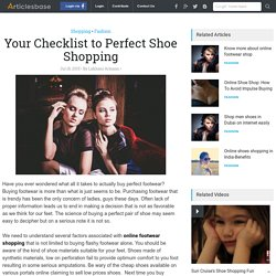 Your Checklist to Perfect Shoe Shopping
