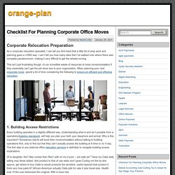 Checklist For Planning Corporate Office Moves – orange-plan