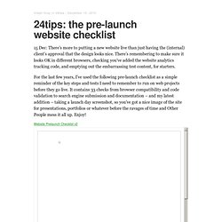 24tips: the pre-launch website checklist