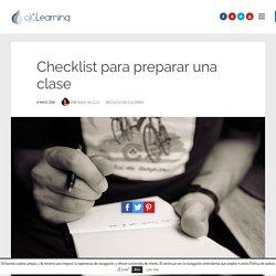 Checklist para preparar una clase