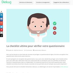 La checklist ultime pour vérifier votre questionnaire – Dialoog