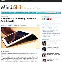 Checklist: Are You Ready for iPads In Your School?