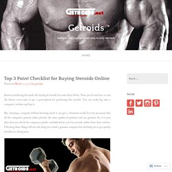 Top 3 Point Checklist for Buying Steroids Online – Getroids