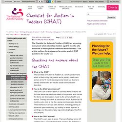 Checklist for Autism in Toddlers (CHAT)