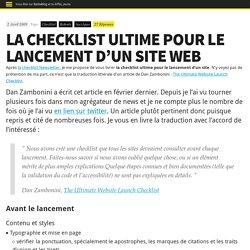 La checklist ultime pour le lancement d'un site web