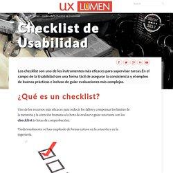 Checklist de Usabilidad - UX Lumen