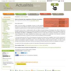 Enfin la Checklist des végétations d'Europe est publiée!