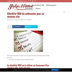 Pays Basque Checklist SEO du webmaster pour un nouveau site »