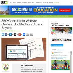 SEO Checklist for Website Owners: Updated for 2016 and Beyond - Search Engine Journal