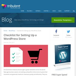 Checklist for Setting Up a WordPress Store