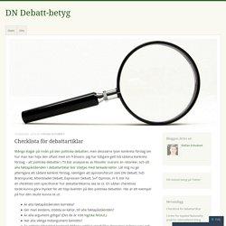 Checklista för debattartiklar
