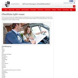 Checklista inför resan