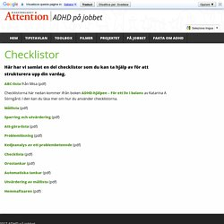 Checklistor – ADHD på jobbet