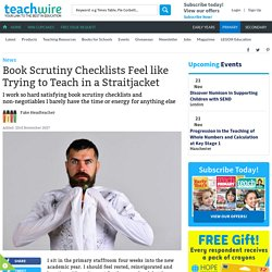 Book Scrutiny Checklists Feel like Trying to Teach in a Straitjacket