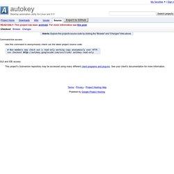 Source Checkout - autokey - Desktop automation utility for Linux and X11
