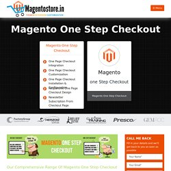 One Step Checkout in Magento