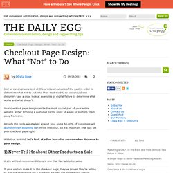 Checkout Page Design: What *Not* to Do