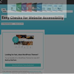 Easy Checks for Website Accessibility