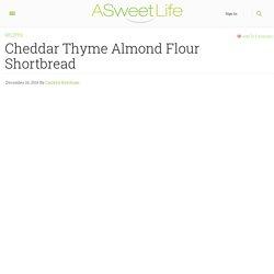 Cheddar Thyme Almond Flour Shortbread