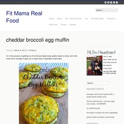 cheddar broccoli egg muffin