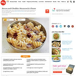 Bacon and Cheddar Macaroni & Cheese - iVillage - StumbleUpon