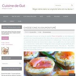 Cheese cake au saumon fumé